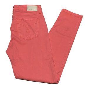 Calvin Klein jeans peachy coral color size 29